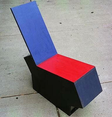 pine paint 60's pop art style chair