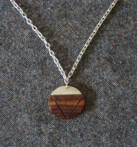 necklaces made from aluminum,lignum vitae,redheart,cocobolo